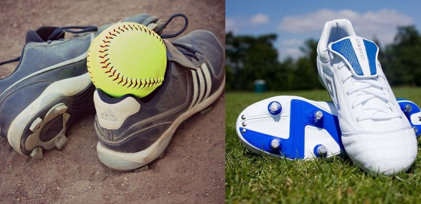 difference between softball and soccer cleats