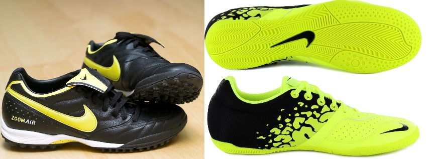 difference between turf and indoor soccer shoes